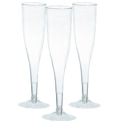 Clear Plastic Champagne Flutes - 162ml
