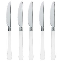 White Premium Reuseable Plastic Knives