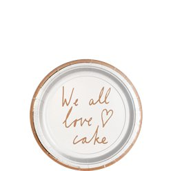 We All Love Cake Dessert Plates - 13cm