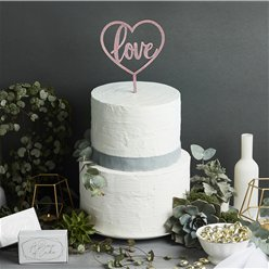 Rose Gold Love Cake Topper - 23cm