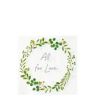 Botanical Wreath Paper Beverage Napkins - 25cm