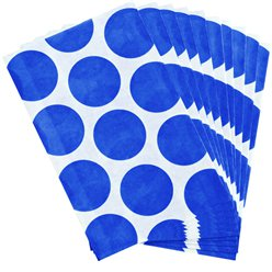 Bright Royal Blue Polka Dot Paper Sweet Bags - 17cm