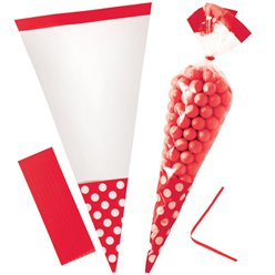 Apple Red Cello Sweet Cones - 24cm