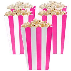 Bright Pink Popcorn Boxes - 13cm