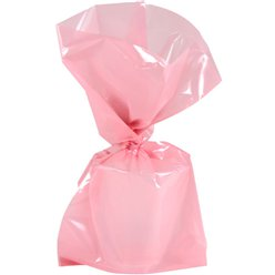 Baby Pink Large Cello Party Bags - 29cm