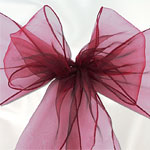 Burgundy Organza Chair Sashes - 3m