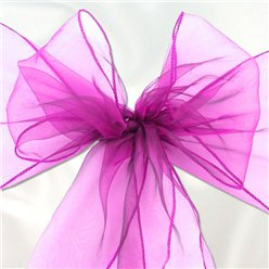 Fuchsia Organza Chair Sashes - 3m