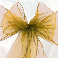 Gold Organza Chair Sashes - 3m
