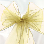 Ivory Organza Chair Sashes - 3m