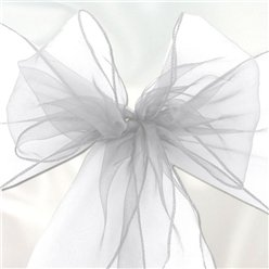 White Organza Chair Sashes - 3m