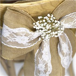 Hessian & Lace Chair Sash - 2.7m