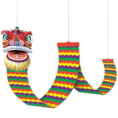 Chinese New Year Dragon Ceiling Decoration - 12ft