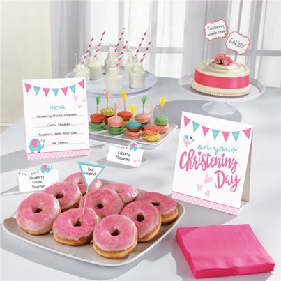 Christening Day Pink Buffet Kit