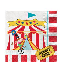 Circus Carnival Lunch Napkins - 33cm Paper Napkins