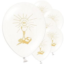 "First Holy Communion Balloons - 11"" Latex"