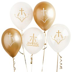 "First Holy Communion Balloons -12"" Latex"