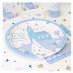 First Holy Communion Blue Plates - 23cm Paper Party Plates