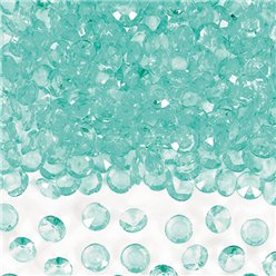 Robins Egg Blue Scatter Crystals Table Diamantes