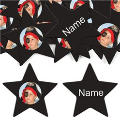 Black Star Personalised Confetti