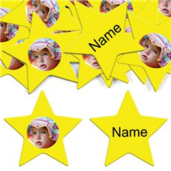 Yellow Star Personalised Confetti