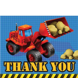 Construction Party Thank You Cards