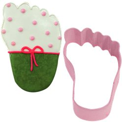 Pink Baby's Foot Cookie Cutter