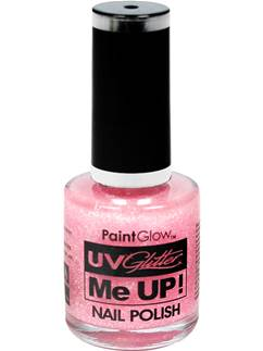 UV Glitter Nail Polish - Candy Pink 10ml