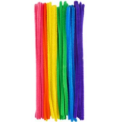 Rainbow Coloured Pipe Cleaners - 30cm