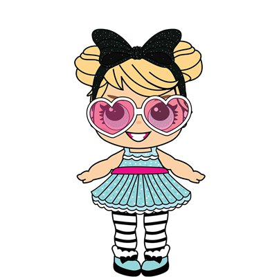Party Doll with Large Eyes & Shades - 86cm
