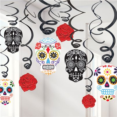 Day of the Dead Hanging Swirls - 60cm