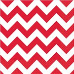 Apple Red Chevron Napkins - 33cm Paper