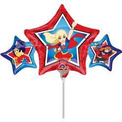 "DC Super Hero Girls Star Airfilled Balloon - 9"" Foil"