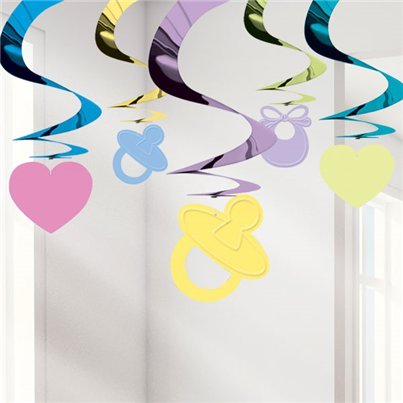 Baby Shower Hanging Swirls - 61cm
