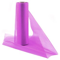 Fuschia Organza Sheer Roll - 25m