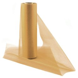 Gold Organza Sheer Roll - 25m
