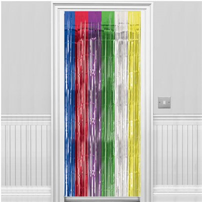 Multi Coloured Foil Curtain - 2.4m