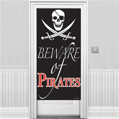Beware of Pirates Door Banner - 1.5m