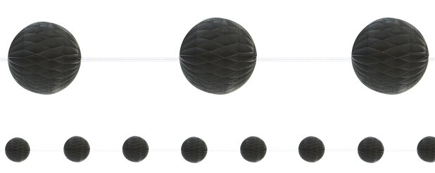 Black Honeycomb Garland Decoration - 2.1m