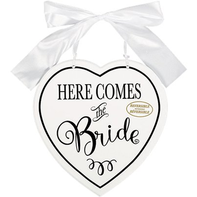 Here Comes The Bride Double Sided MDF Sign