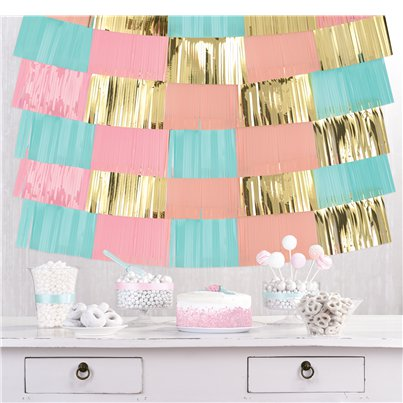 Pastel Foil Decorative Hanging Backdrop