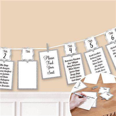 Silver Seating Chart Garland