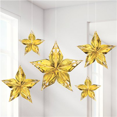 Metallic Gold Stars