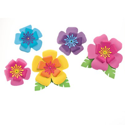 Hawaiian Hibiscus Paper Flower Decorations