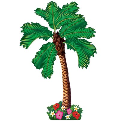 Hawaiian Jointed Palm Tree Decoration - 1.82m