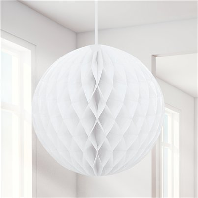 White Honeycomb Ball Decoration - 20cm