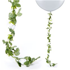 White Rose Garland - 1.75m