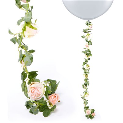Light Pink Rose Garland - 1.75m