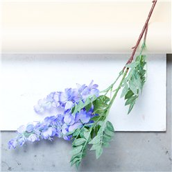 Violet 2-Head Wisteria Decoration (90cm)