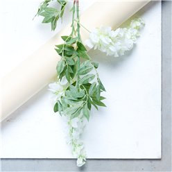 White 2-Head Wisteria Decoration (90cm)