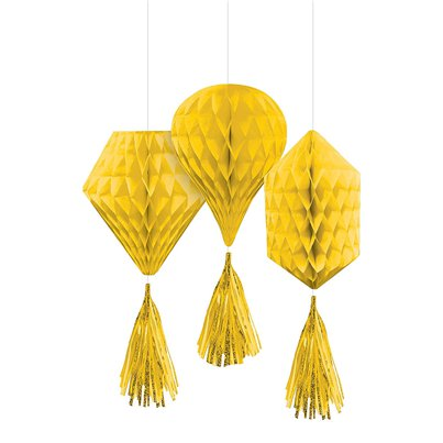 Yellow Mini Honeycombs with Tassels